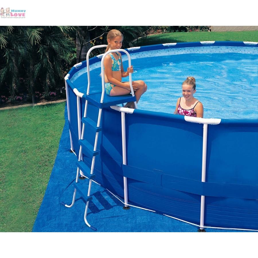Как сделать лестницу для надувного бассейна