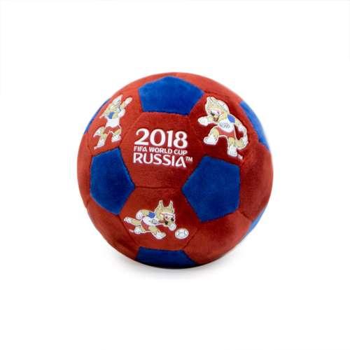 FIFA-2018 плюш.мяч с термопринтом 17 см красно-синий