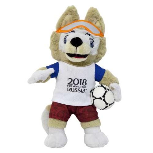 Игрушка волк Забивака символ ЧМ2018 Zabivaka 18 см плюшевый