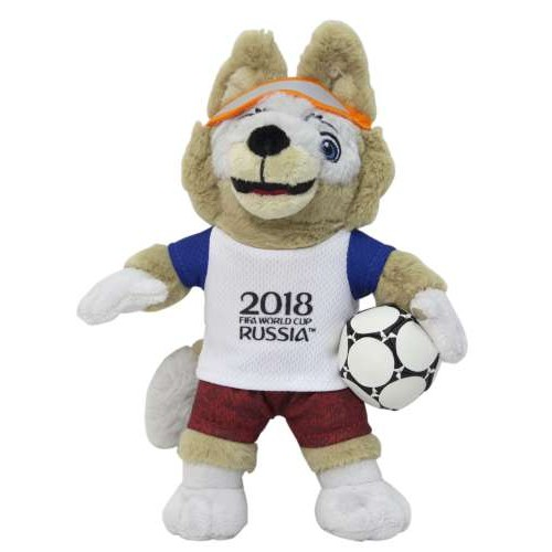 Игрушка волк Забивака символ ЧМ2018 Zabivaka плюшевый 21 см в пакете