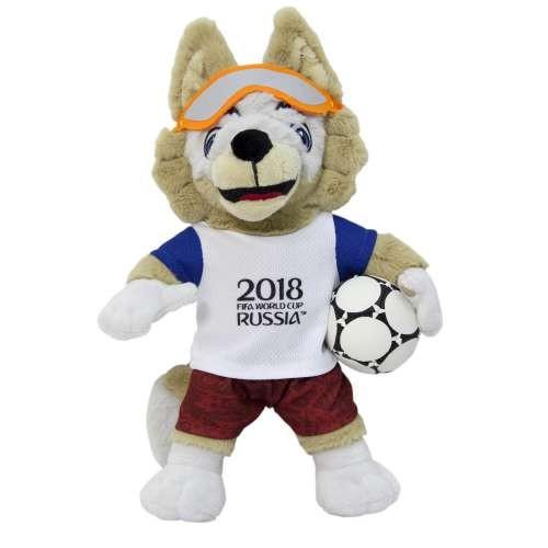Игрушка волк Забивака символ ЧМ2018 Zabivaka плюшевый 28 см в пакете
