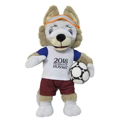 Игрушка волк Забивака символ ЧМ2018 Zabivaka плюшевый 40 см в пакете