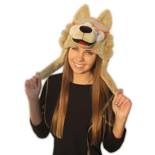 Мягкая шапка Волк Забивака взрослая р-р 60