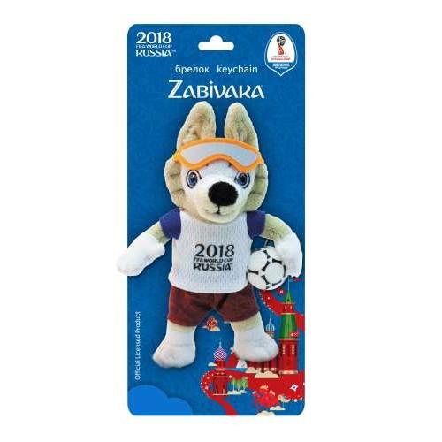 Волк Забивака символ ЧМ2018 плюшевый Zabivaka 16 см брелок