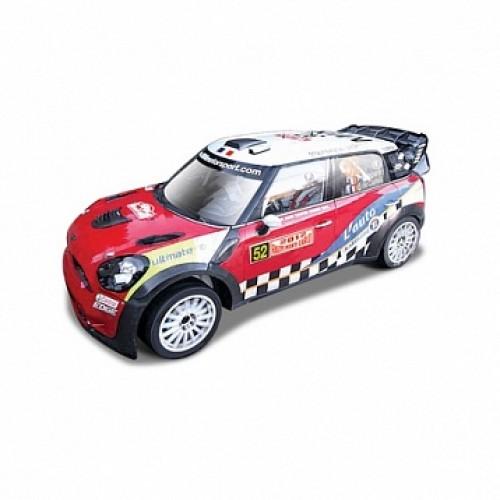1:32 BB Машина РАЛЛИ WRC MINI Countryman WRC (Команда №52) металл. в пластиковом диспенсере Bburago 18-41043