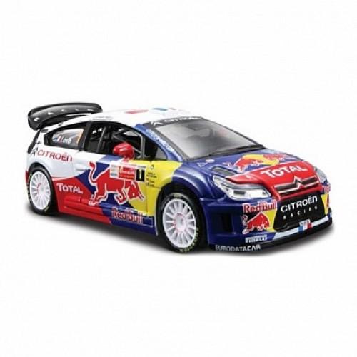 1:32 BB Машина РАЛЛИ - 2012 CITROEN Racing Total World Rally Команда №1 металл. в пластиковом диспе Bburago 18-41040
