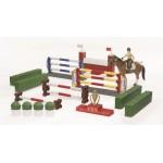 Большой набор для скачек с фигурой всадницы и лошадью Bruder (Брудер)