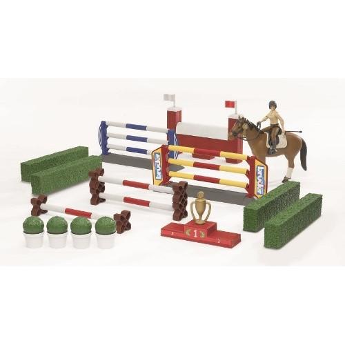 Большой набор для скачек с фигурой всадницы и лошадью Bruder 62-530