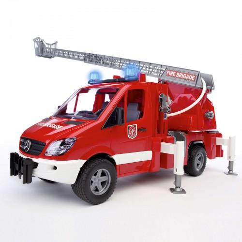 MB Sprinter пожарная машина с лестницей и помпой с модулем со световыми и звуковыми эффектами Bruder (Брудер)