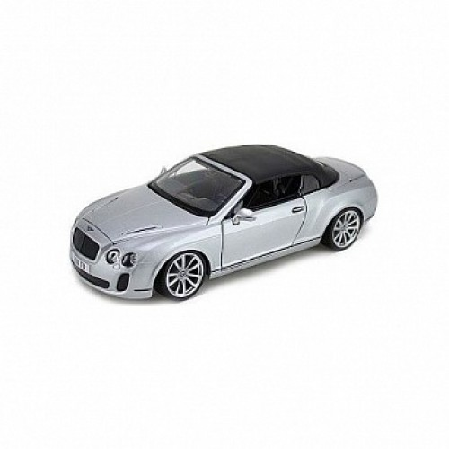 1:18 BB Машина сборка BENTLEY Continental Supersports Convrtible ISR металл. в закрытой упаковке Bburago 18-15057