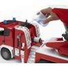 Пожарная машина Scania с выдвижной лестницей и помпой с модулем со световыми и звуковыми эффектами Bruder 03-590