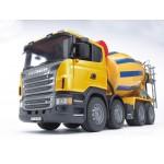 """Бетономешалка Scania (цвет жёлто синий) (подходит модуль со звуком и светом """"H"""") Bruder (Брудер)"""