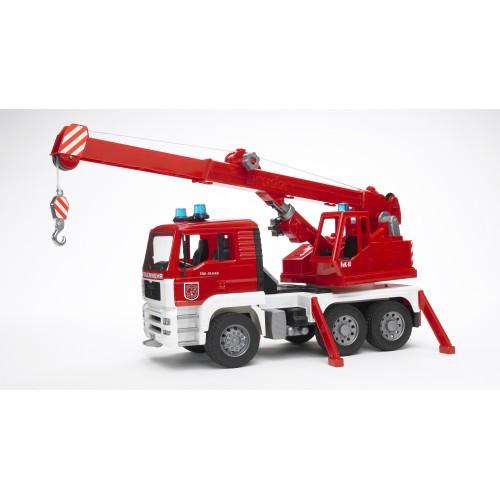 Пожарная машина автокран MAN с модулем со световыми и звуковыми эффектами Bruder 02-770