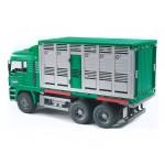 """Фургон MAN для перевозки животных с коровой (подходит модуль со звуком и светом """"H"""") Bruder (Брудер)"""