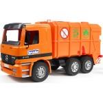 Мусоровоз Mercedes-Benz (цвет оранжевый) Bruder (Брудер)