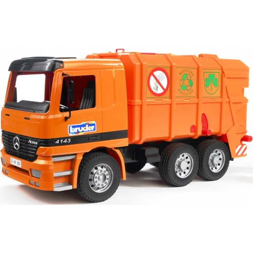 Мусоровоз Mercedes-Benz (цвет оранжевый) Bruder 01-667