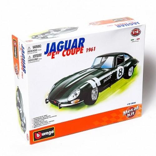 """1:18 BB Машина сборка JAGUAR """"E"""" COUPE (1961) металл. в закрытой упаковке Bburago 18-15024B"""