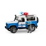 Внедорожник Land Rover Defender Station Wagon Полиция с фигуркой Bruder (Брудер)