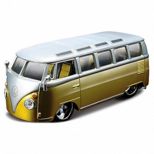 1:32 BB Машина VOLKSWAGEN Автобус 'SAMBA металл. в пластиковом диспенсере Bburago 18-42004
