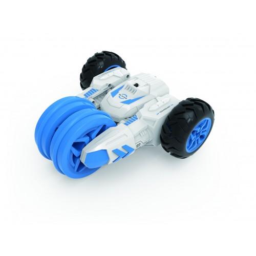 Драйв трюковая трёхколёсная машина-перевёртыш на р/у бело-голубой 1TOY