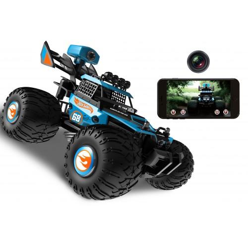 Hot Wheels багги на р/у синяя wifi кам.480p 1TOY Т11571