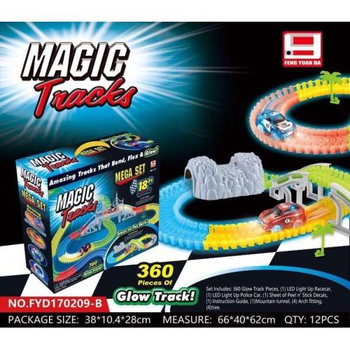 """Конструктор Гибкий трек Magic Tracks """"Туннель"""" 360 деталей"""
