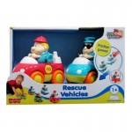Спасательные машинки (2 шт/уп): пожарная+скорая помощь Hap-p-Kid