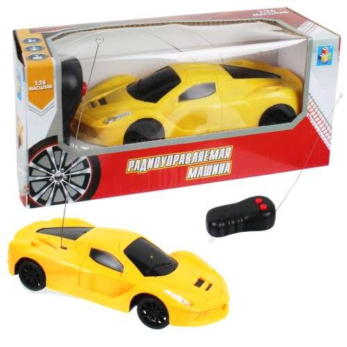 Спортавто Машина на радиоуправлении масштаб 1:26 желтая 1TOY