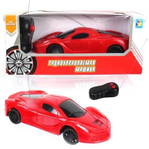 Спортавто Машина на радиоуправлении масштаб 1:26 красная 1TOY