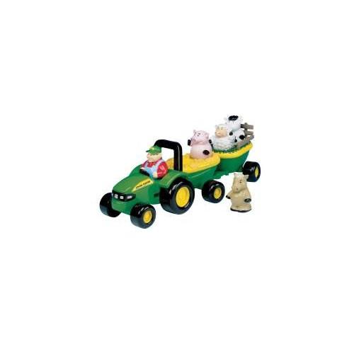 Веселый трактор с животными John Deere Tomy