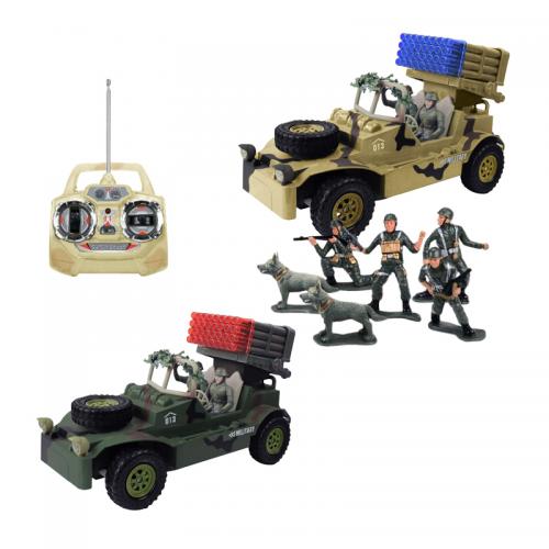 Военный автомобиль на радиоуправлении с набором солдат Tongde