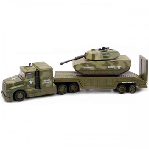 Военный перевозчик + танк 28 см. Soma