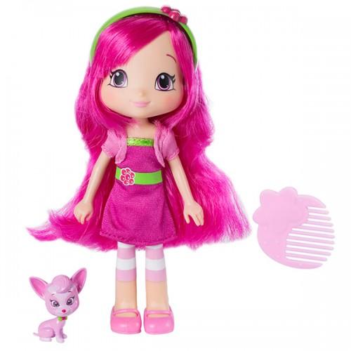 Шарлотта Земляничка Кукла Малинка с питомцем, 15 см, кор. (Strawberry Shortcake)