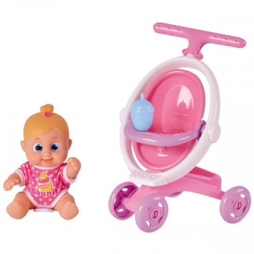 Bouncin' Babies Кукла Бони 16 см с коляской