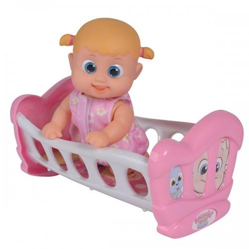 Bouncin' Babies Кукла Бони 16 см с кроваткой