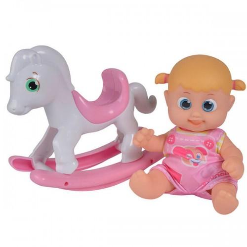 Bouncin' Babies Кукла Бони 16 см с лошадкой-качалкой