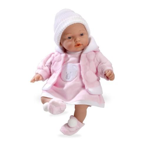 ELEGANCE 28 CM HANNE кукла с мягким телом+винил розовый костюм Arias