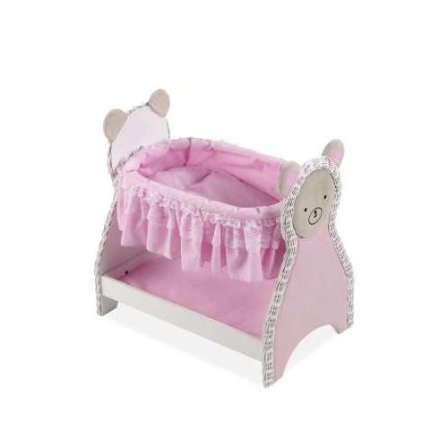 ELEGANCE дерев.кроватка для кукол с постелькой,нижней полочкой, 52x34x50 см Arias