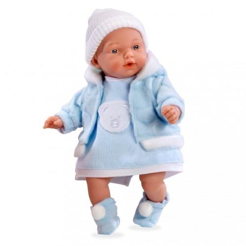 ELEGANCE HANNE кукла с мягконабивным телом+винил, голубой костюм 28 см Arias