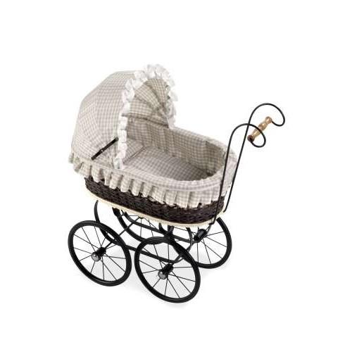 ELEGANCE коляска для кукол Ретро 62x30x66 см цвет тёмный шоколад Arias