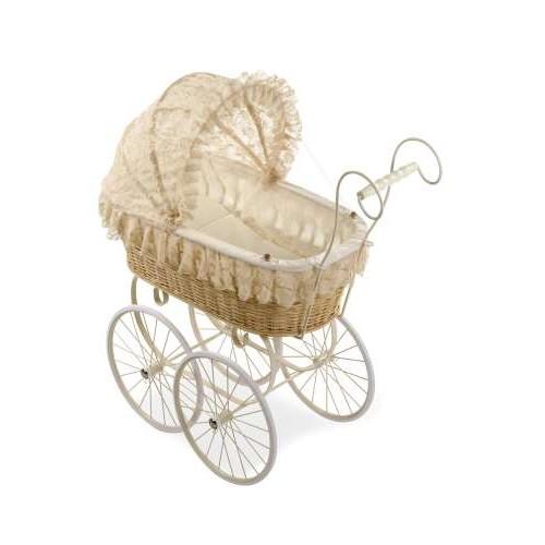 ELEGANCE коляска для кукол Ретро 90x36x90 см цвет слоновая кость Arias