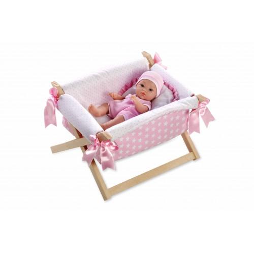 ELEGANCE кукла винил 33 см в кроватке Arias