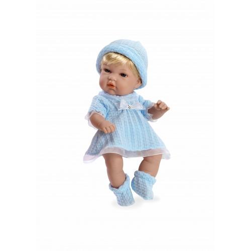 ELEGANCE кукла виниловая 33 см с кристаллами SWAROWSKI в одежде голубой Arias