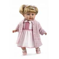 ELEGANCE мягкая кукла 42 см. в одежде розовой с соской Arias