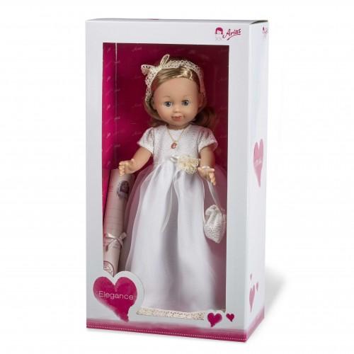 ELEGANCE виниловая кукла 42 см. в платье светлые волосы Arias