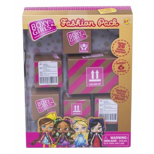 Игровой набор из 6 посылок с сюрпризом для кукол Boxy Girls 1TOY