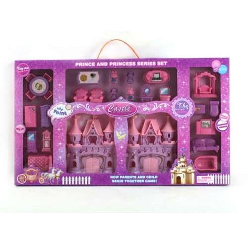 Игрушка замок для мини-кукол с мебелью (28 предметов) S+S Toys
