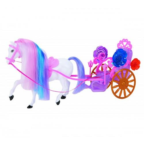 Карета с лошадью для кукол 1TOY