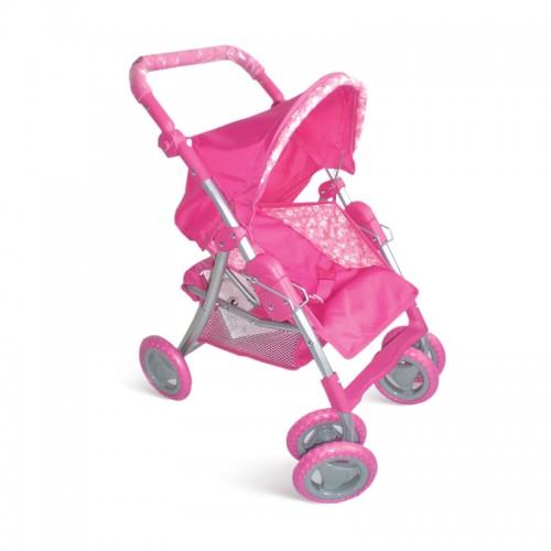 Коляска для кукол розовая 1TOY
