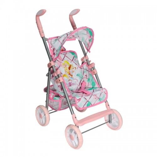 Коляска для кукол Winx розовая 1TOY
